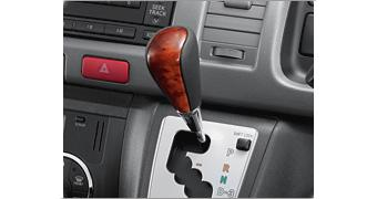 Wood-grained + Leather Shift Knob US$ 110