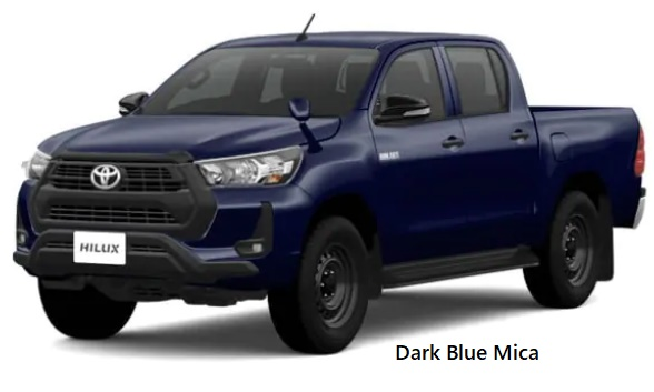 New Toyota Hilux body color: DARK BLUE MICA