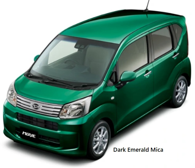New Daihatsu Move body color: Dark Emerald Mica