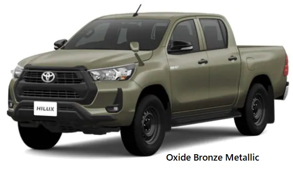 New Toyota Hilux body color: OXIDE BRONZE METALLIC