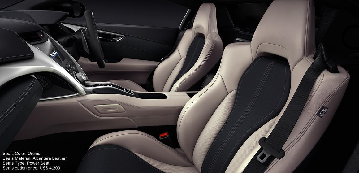 New Honda NSX Interior color: Orchid (Alcantara Leather) Power Seat
