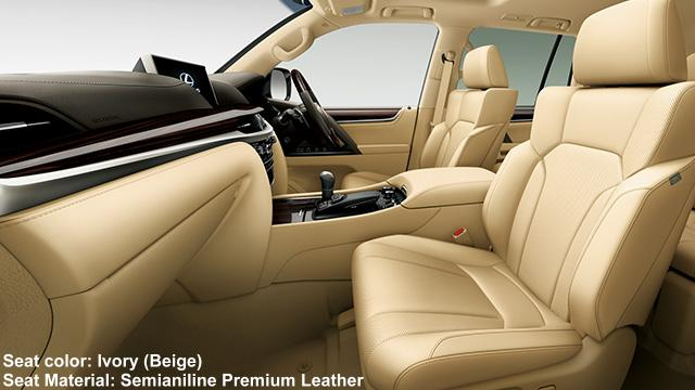 ... New Lexus LX570 interior color photo: Ivory (Beige) ...