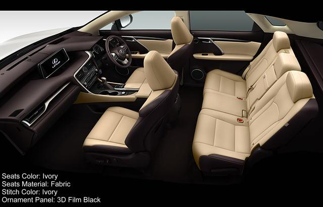 new lexus rx450h interior color photo image seat colour picture. Black Bedroom Furniture Sets. Home Design Ideas