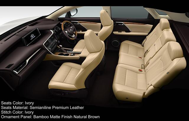 New Lexus Rx450h Version L Interior Color Photo Image
