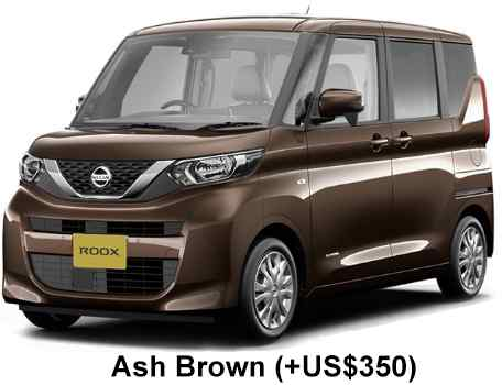 New Nissan Roox body color: ASH BROWN (+US$350)