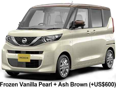 New Nissan Roox body color: 2 TONE color: Frozen Vanilla Pearl + Ash Brown  (+US$600)