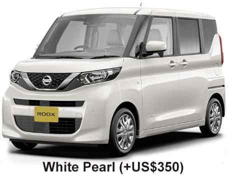 New Nissan Roox body color: WHITE PEARL (+US$350)
