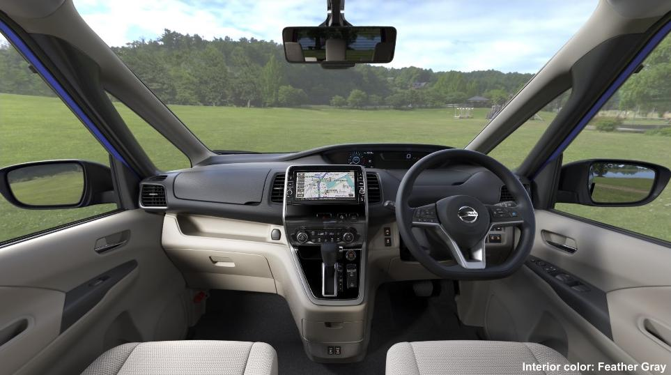 New Nissan Serena Cockpit photo: FEATHER GRAY