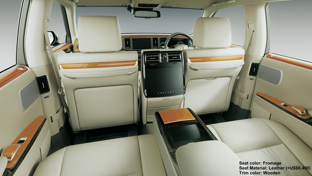 new toyota century picture, interior colors, seat colours
