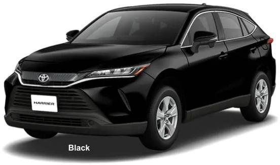 New Toyota Harrier body color: BLACK