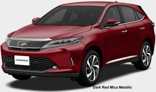 New Toyota Harrier body color: DARK RED MICA METALLIC