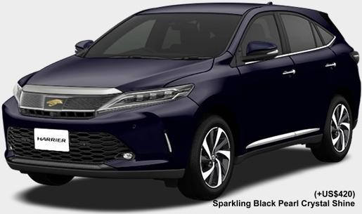 New Toyota Harrier body color: SPARKLING BLACK PEARL CRYSTAL SHINE (option color +US$420)