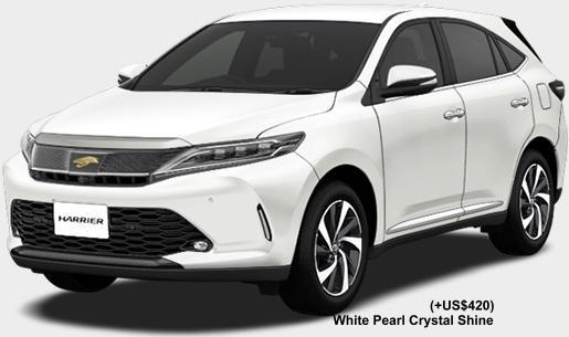 New Toyota Harrier body color: WHITE PEARL CRYSTAL SHINE (option color +US$420)