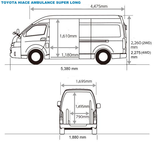 The Car Company >> New Toyota Hiace Ambulance pictures, front view photo and Exterior image