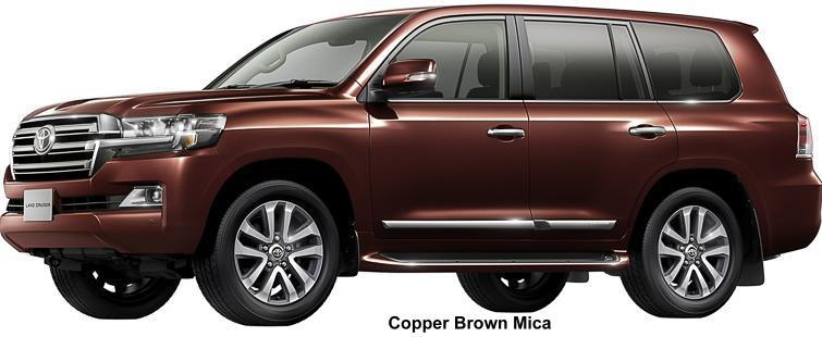New Toyota Land Cruiser-200 Body color: Copper Brown Mica