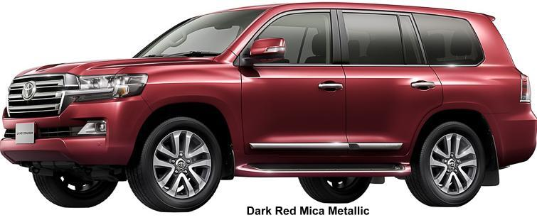 New Toyota Land Cruiser-200 Body color: Dark Red Mica Metallic