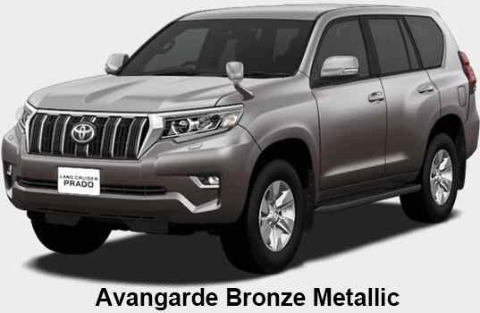 New Toyota Land Cruiser Prado body color: Avangarde Bronze Metallic
