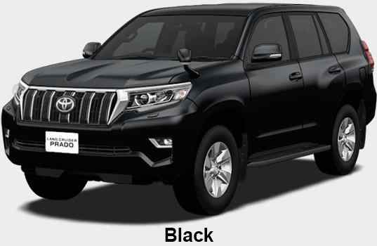 New Toyota Land Cruiser Prado body color: Black