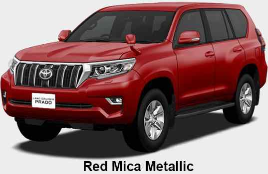 New Toyota Land Cruiser Prado body color: Red Mica Metallic