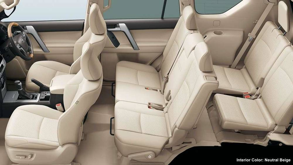 Amazing ... New Toyota Land Cruiser Prado Picture: Neutral Beige Interior Color Images