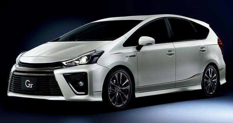 New Toyota Prius Alpha Gs Front Photo Image Picture