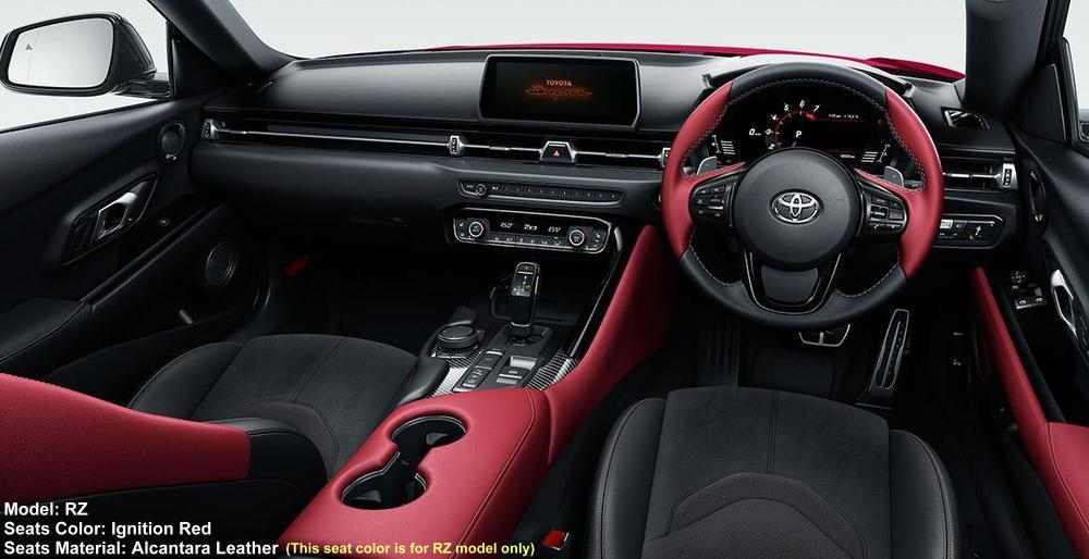 New Toyota Supra RZ Cockpit photo: Innition Red