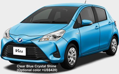 new toyota vitz hybrid body color photo exterior colour