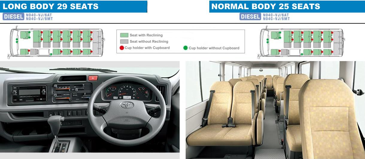 New Toyota Coaster Bus Interior Photo Image Inside View