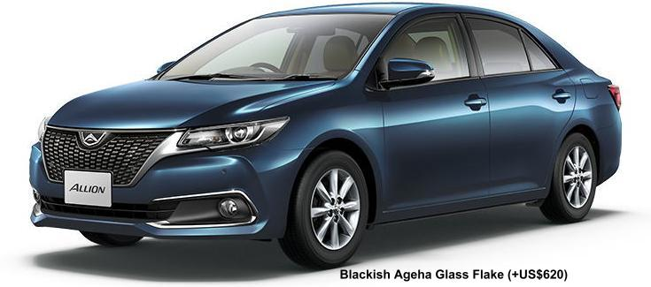 New Toyota Allion body color: BLACKISH AGEHA GLASS FLAKE (option color +US$620)