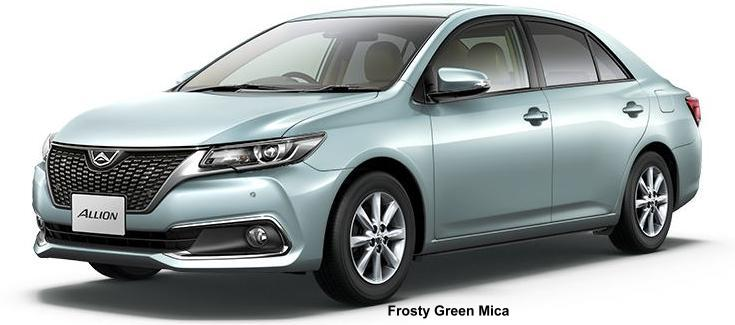 New Toyota Allion Body Colors List