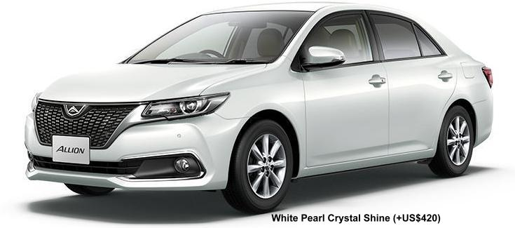 New Toyota Allion body color: WHITE PEARL CRYSTAL SHINE (option color +US$420)
