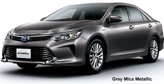New Toyota Camry Hybrid Body Colors List