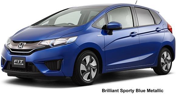 New Honda Fit Hybrid Body Colors Variation, Exterior colours