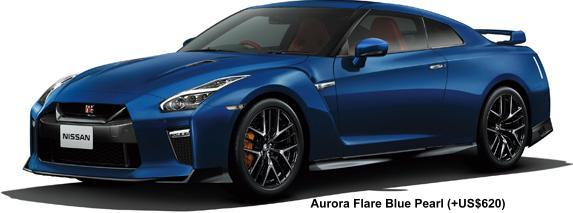 New Nissan GTR body color: AURORA FLARE BLUE PEARL (option color +US$620)
