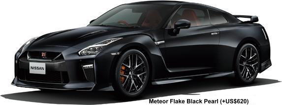 New Nissan GTR body color: METEOR FLAKE BLACK PEARL (option color +US$620)