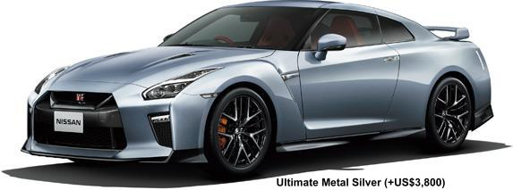 New Nissan GTR body color: ULTIMATE METAL SILVER (option color +US$3,820)