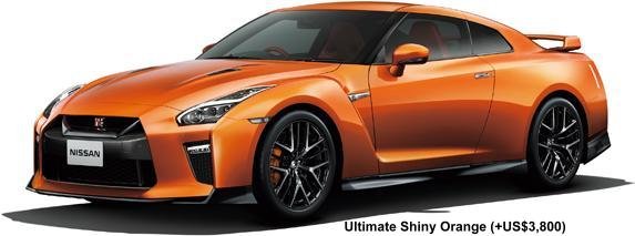 New Nissan GTR body color: ULTIMATE SHINY ORANGE (option color +US$3,820)