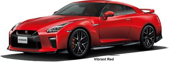 New Nissan GTR body color: VIBRANT RED