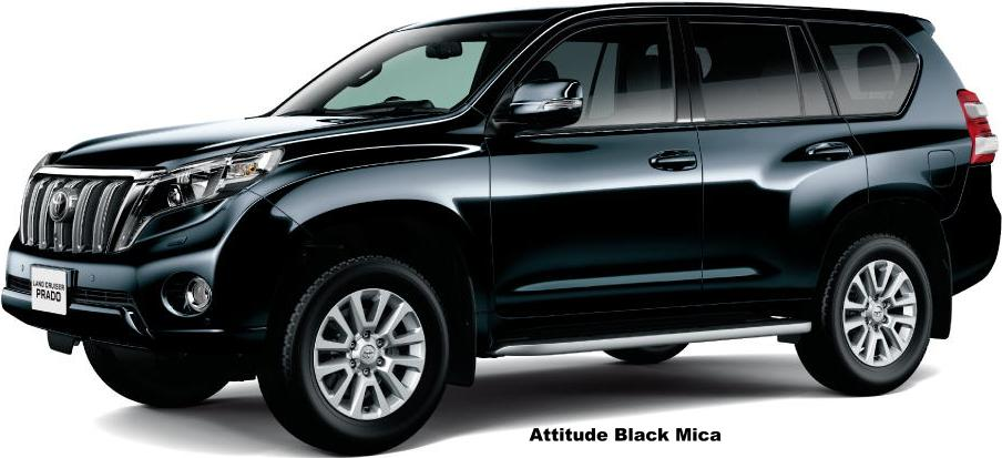 New Toyota Land Cruiser Prado Body Colors Selection