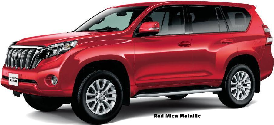 New Toyota Land Cruiser Prado Body colors selection
