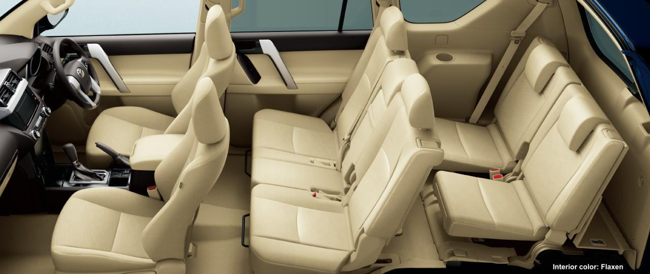 New Toyota Land Cruiser interior color: FLAXEN (BEIGE)