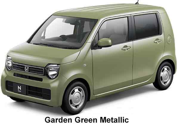 New Honda N-Wagon body color: Garden Green Metallic