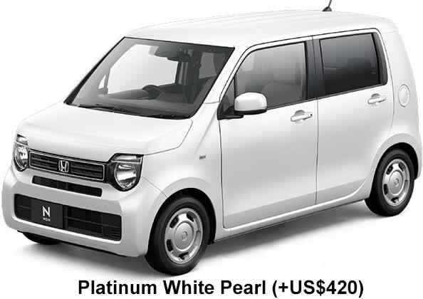 New Honda N-Wagon body color: Platinium White Pearl (option color +US$420)