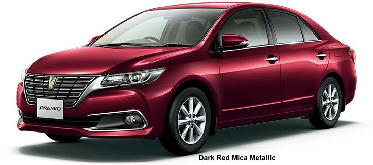 New Toyota Premio body color: DARK RED MICA METALLIC