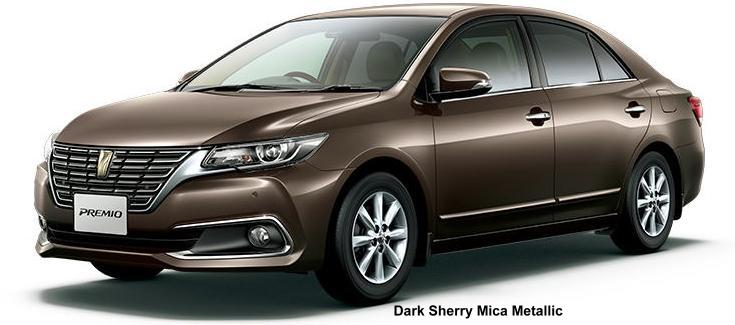 New Toyota Premio body color: DARK SHERRY MICA METALLIC