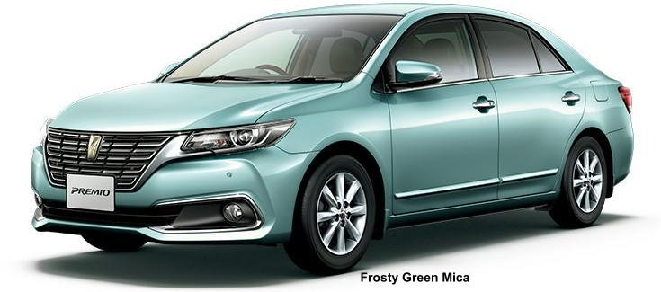 New Toyota Premio body color: FROSTY GREEN MICA