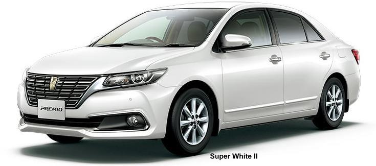 New Toyota Premio body color: SUPER WHITE II
