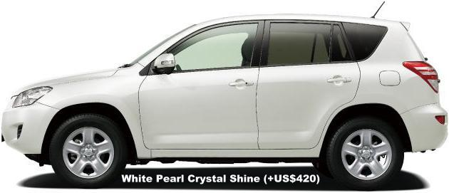 New Toyota RAV4 body color: WHITE PEARL CRYSTALSHINE (option color +US$420)