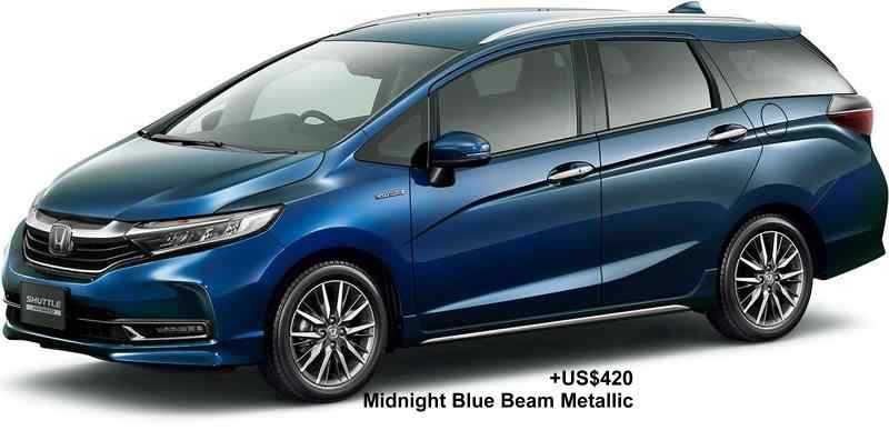 New Honda Shuttle body color: MIDNIGHT BLUE BEAM METALLIC (option color +US$420)