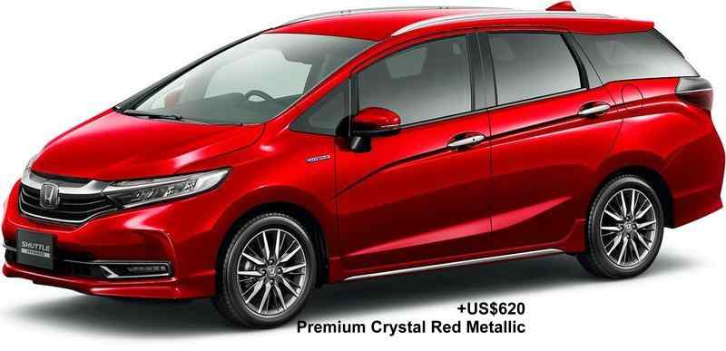 New Honda Shuttle body color: PREMIUM CRYSTAL RED METALLIC (option color +US$620)